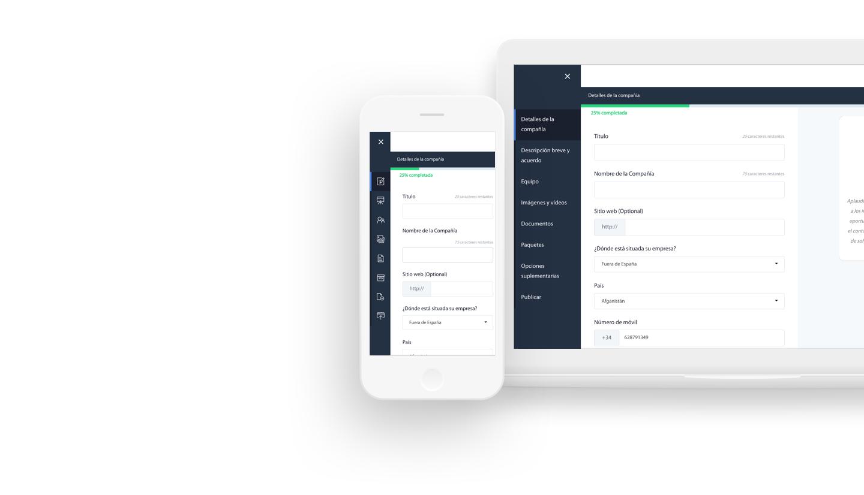 Gestione sus propuestas, inversores y mensajes a través de su tablero privado
